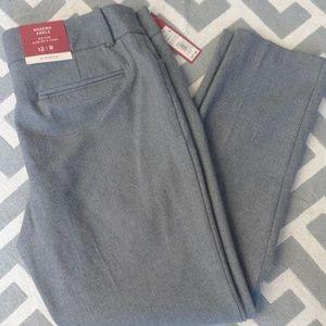 NWT Ankle Pants by Merona Sz 12R Grey